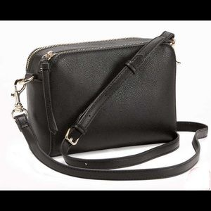 Old Navy Black Faux Leather Camera Bag